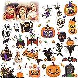 HOWAF Tatuaggi Temporanei per Bambini, Halloween Tatuaggi Set, Tatuaggi Finti Adesivi Giocattoli Gadget per Bambina Ragazzi Tattoo Bambini Adulti Festa Compleanno Halloween Cosplay Decorazioni