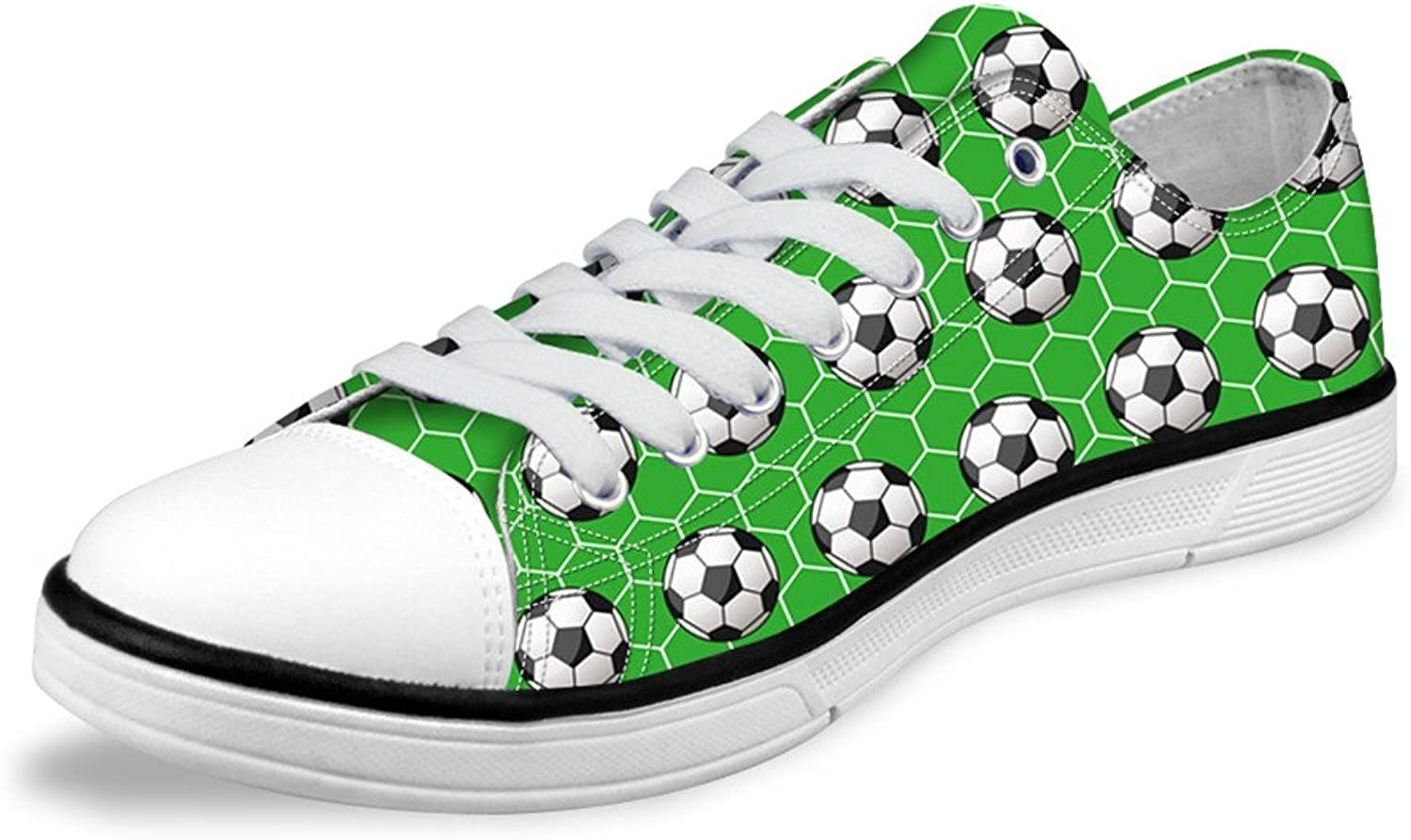 Micandle Boys Personalized Low Top Lace Up shoes Cool Football Pattern Sneaker