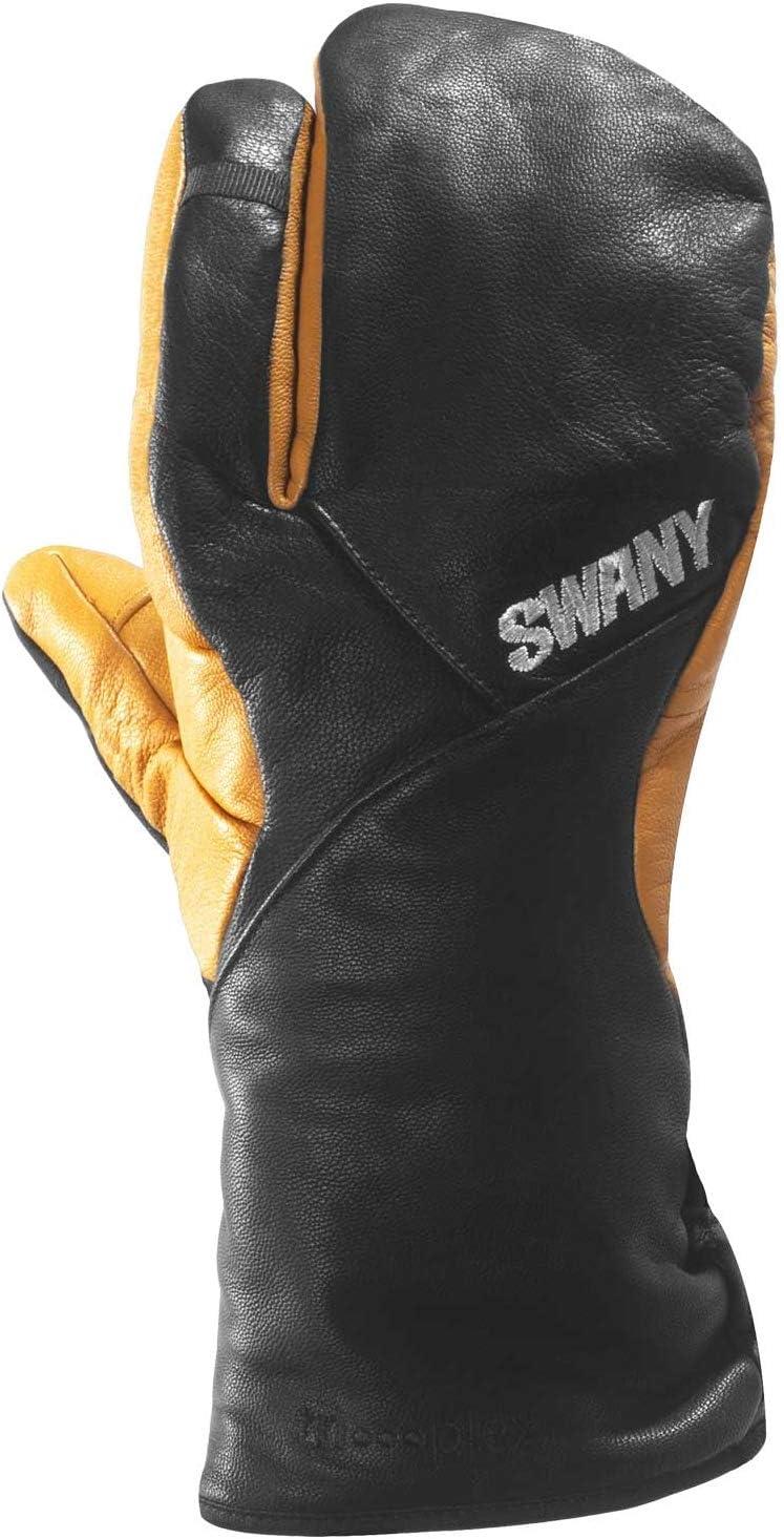 Swany Hawk Overseas SEAL limited product parallel import regular item Under 3-Finger SXB-10M-BK Mitts Black