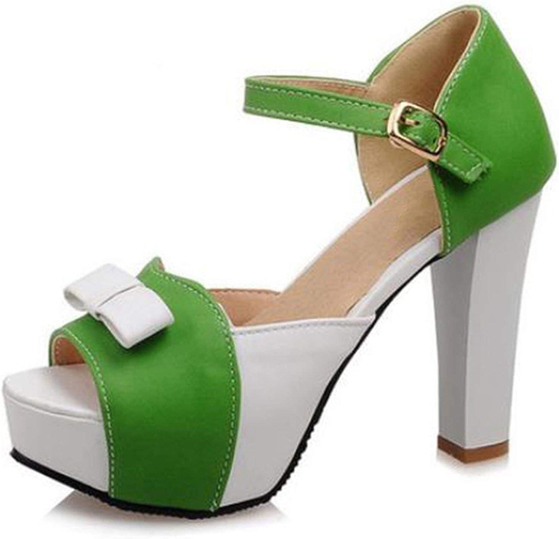 Women High Heel Sandals Open Toe Platform shoes Wmoan Thick Heeled Ladies Footwear Size