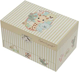 Trousselier Large Music Box with Drawer - Sophie The Giraffe, Beige, 532 Gram