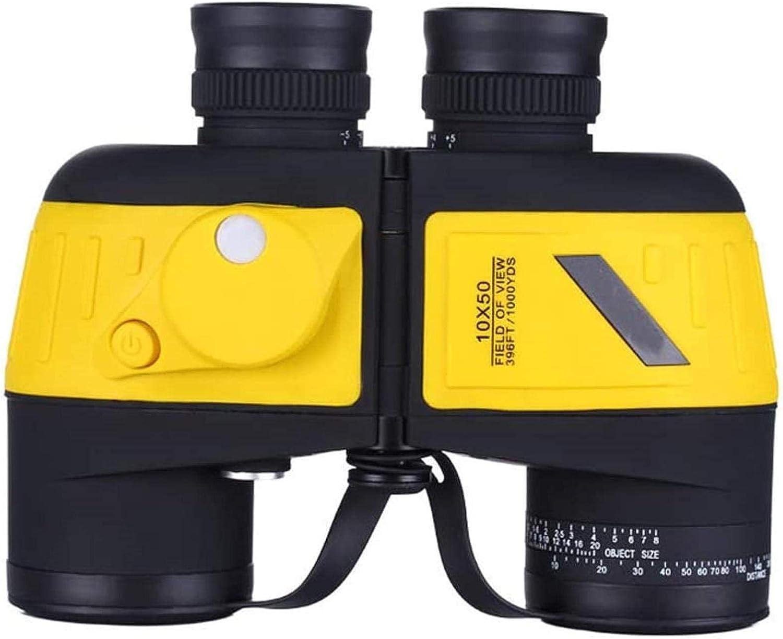 J-Love Prismáticos 10x50 con telémetro Prisma HD BAK4 Alta Potencia Lente FMC Prismáticos a Prueba Niebla Compactos con visión Nocturna Prismáticos a Prueba nitrógeno