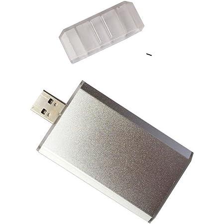mSATA MINI PCI-e SSD→USB3.0 外付けドライブ 金属ケース付き USBケーブル不要