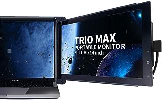 "Trio Max Slide Portable Monitor for Laptop, 14"" FHD 1080P Attachable Laptop Screen Eye Care,*USB C/USB A Dual or Triple Di..."