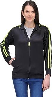Scott International Dryfit Jacket Wrinkle Free Women's (Black with Green Stripes)