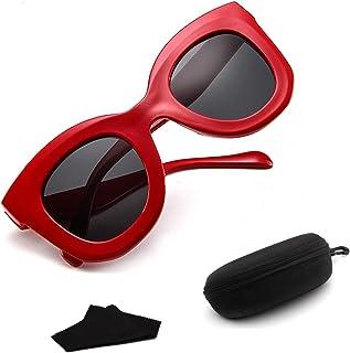 Sunglasses Fashion Accessories Sunglasses for Women Men Bold Retro Oval Mod Style Polarized Goggles5139 (Color : White)