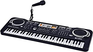 61 Keys Electronic Keyboard Piano Children Music Instrument Multi-function Kids Educational Toys Gifts with Microphones
