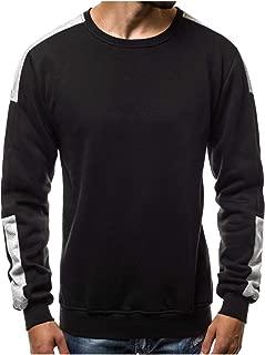 Abetteric Mens Pullover Scoop Neck Classics Oversize Pullover Sweatshirt