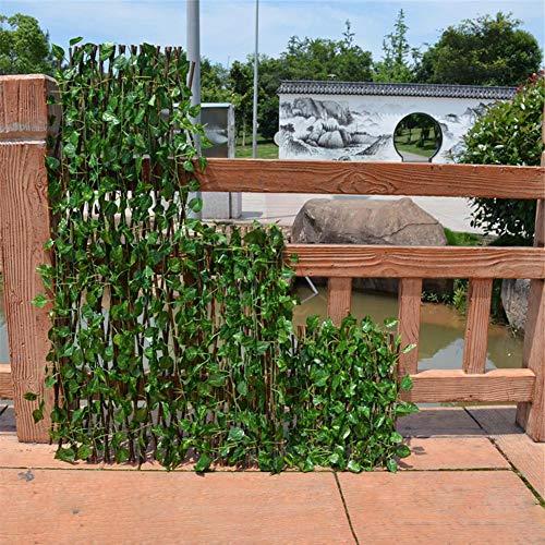 LyhomeO Planta De Setos Artificiales, Plástico Césped Falso Planta Verde Cobertura, Decoración De La Cerca Privacidad del Jardín