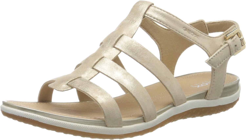 Geox Women's Wedge Heels Sandals Open Toe, 8.5 us