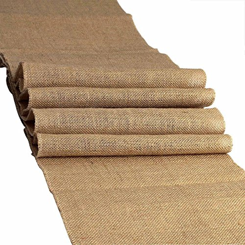"AK-Trading 100% Natural Chic Rustic Burlap Jute Runners - Made in USA - Ships Fast & Free 14"" Wide x 72"" Long"