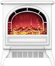XCJ Chimenea electrica Estufa Eléctrica Chimenea Eléctrica Flame Calefactor Llama Decorativa Chimenea Portátil, Termostato 1800W Chimenea Incorporada (Color : White)