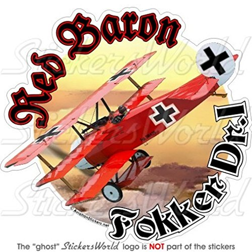FOKKER TRIPLANE RED BARON Richthofen WWI Duits 4,6