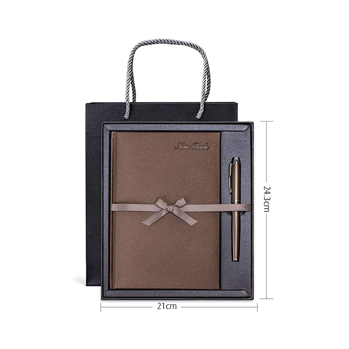 計算可能ドライ道徳Guyuexuan 青、赤、茶色、黒、ノートブックセット、父の日ギフト、ギフトボックスビジネス会議メモ帳、事務用便箋、クリエイティブブック 高品質の製品 4 (Color : Brown)