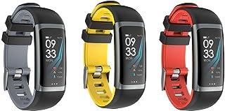 MMTEK-Street Workout II Pulsera Actividad con Pulsómetro Mujer Hombre, Monitor de Actividad Deportiva, Ritmo Cardíaco, Impermeable IP67, Reloj Fitness, smartwatch con Podómetro