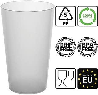 100 vasos reutilizables | Polipropileno Rígido Plástico 30cl | Color helado