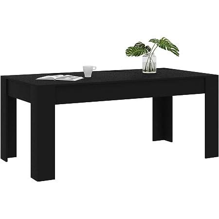 Festnight Table à Manger Noir 180 x 90 x 76 cm Aggloméré