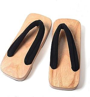 ZCPCS Sandalias de Madera para Hombre de Madera de Madera Japonesa de flipraide (Color : 01, Size : 41)