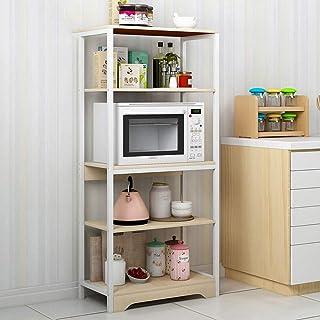 Support de Four à Micro-Ondes Utilitaire Rack Vintage de Cuisine Baker étagère de Rangement 5 Tier Shelf Assemblage Facile...