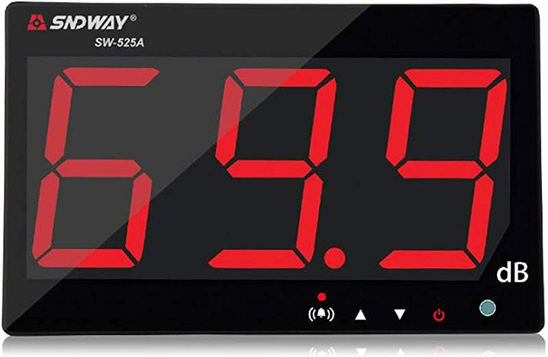 SNDWAY SW 525A 30 130dB Digital Sound Level Meter With Large LCD Display Noise Meter Decibel Wall Mounted Hanging