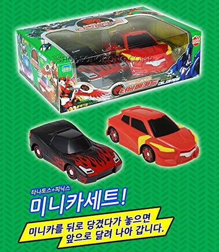 K-Crew Phoenix & TANATOS Mini Car Set-Turning Mecard Transforming Robot Car Toy