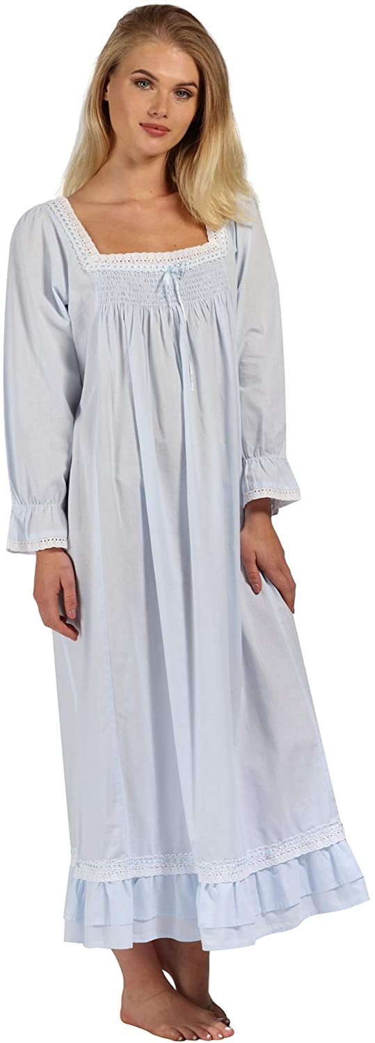 Vintage Nightgowns, Pajamas, Baby Dolls, Robes The 1 for U Martha Nightgown 100% Cotton Victorian Style - Sizes XS - 3X $44.99 AT vintagedancer.com