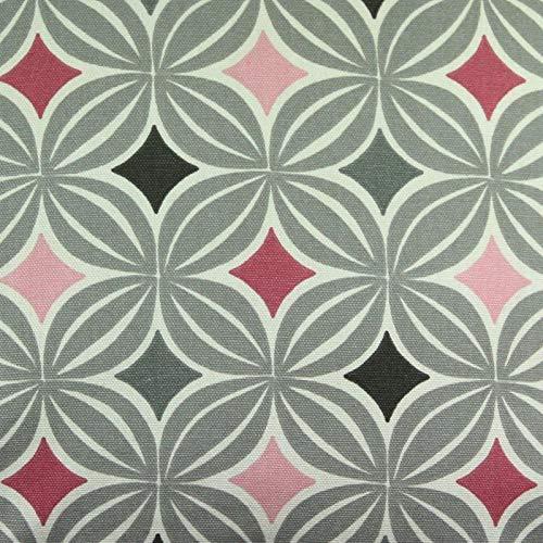McAlister Textiles Tessuto al Metro da Cucito Laila | Eleganti Decorazioni per la Casa 100% Cotone | Motivo Geometrico Scandinavo | Rosa Cipria | Misura Campione Di Stoffa 20x10 cm