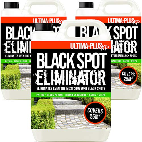 Ultima-Plus XP Black Spot Eliminator for Patio, Stone, Block Paving, Indian Sandstone, and More - Easy to Use Fluid for Stubborn Dirt & Grime (15 Litres)