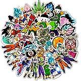 JZLMF 50 adesivi Dragon Ball Graffiti Anime Adesivo Notebook Pull Box Cartoon