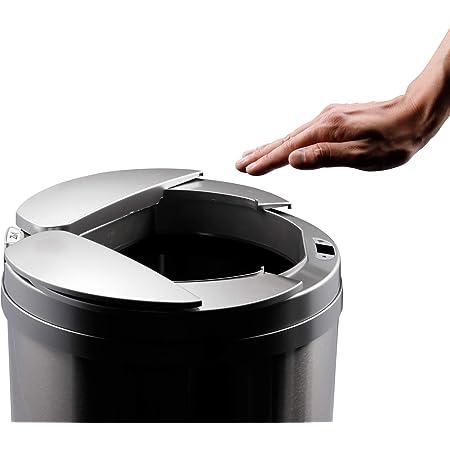 【ひらけ、ゴミ箱】ZitA ジータ ゴミ箱 おしゃれ 45リットル ダストボックス 自動 自動ゴミ箱 センサー (シルバー)