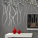reyqing 3D dreidimensionale Relief, Fernseher Hintergrund, Wand-Papier, tief Druck, dick Linien, grau, Tapete nur
