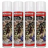 WESPEN-EX Power Spray 4x 400 ml -- Wespenspray Pyrethrum Insektizid Wespenschaum...