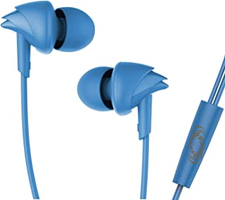 boAt BassHeads 100 Mumbai Indians Edition in-Ear Wired Earphones with Super Extra Bass, in-line Mic, Hawk Inspired Design ...
