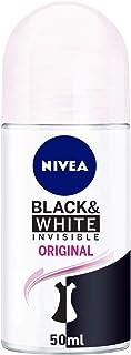 NIVEA Black & White Invisible Original, Antiperspirant for Women, Roll-on 50ml