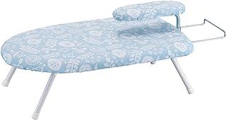 山崎実業 花柄 北欧風 暮らしの定番 アイロン置台付き 仕上げ馬付き スチームアイロン台  ブルー 約W60XD36XH20cm 4013