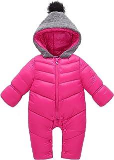 Aivtalk Winter Baby Boys Girl's One-Piece Cable Hood Down Snowsuit Jumpsuit