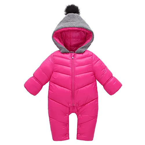 Toddler Soft Baby Girl/'s Boy/'s Down Snow Suit One Piece Size 6 12 18 24 Months @