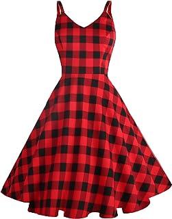 New Girls Tartan Retro Vintage Midi Dress Red Leopard Chequered Print T-Shirt