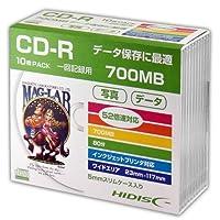 HIDISC CD-R データ用 700MB 52倍速対応 5mmSlimケース入り ホワイト ワイドプリンタブル HDCR80GP10SC 10枚パック
