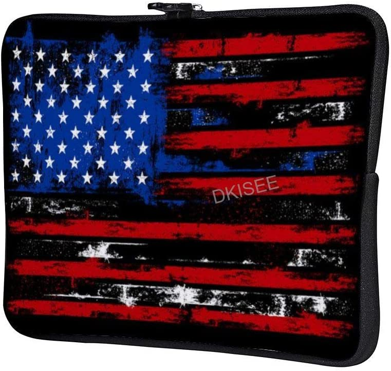 Compatible with 10 Inch MacBook Air//MacBook Pro Notebook Two-Way Zippers Laptop Carrying Bag Case Cover DKISEE USA Distressed Flag Laptop Sleeve for Women Men