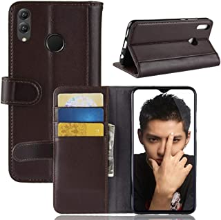 PENGTENGSTORE With Card Slots & Holder & Wallet, Horizontal Leaf Echt Leather Case For Huawei Honor 8X (Color : Brown)