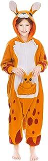 Unisex Child Pajama Plush Onesie One Piece Kangaroo Animal Costume