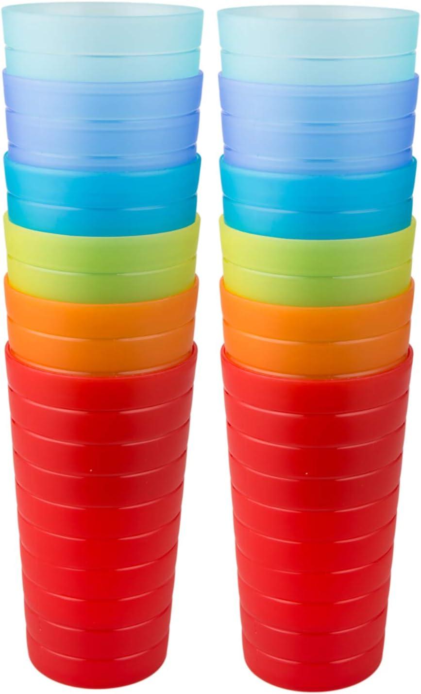 AOYITE Plastic Tumblers Drinking Glasses Regular store of 12 Set Super-cheap Break Resis