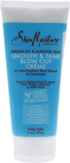 Shea Moisture Argan Oil and Almond Milk Smooth and Tame Blow Out Creme for Unisex, 6 Ounce