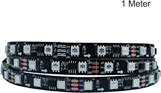 HJHX WS2811 Led Strip 5050 SMD RGB Addressable 60leds/m Led Pixels External 1 Ic Control 3 LEDs Bright DC12V - 1 Meter