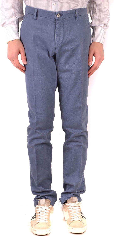 MASON'S Men's MCBI38122 blueee Cotton Pants