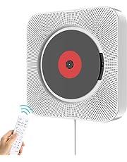 CDプレーヤー Toyuugo 壁掛け式CDプレーヤー コンパクト 語学学習 音楽鑑賞 Bluetooth/FM/USB/SDモード対応 cdプレーヤー リモコン付き