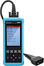 LAUNCH OBD2 Scanner CR8001 Vehicle Scan Tool Automotive Car Code Reader Check ABS SRS System Diagnoses and EPB &Oil Light Reset Diagnostic Scanner Tool with LCD Screen, Free Update