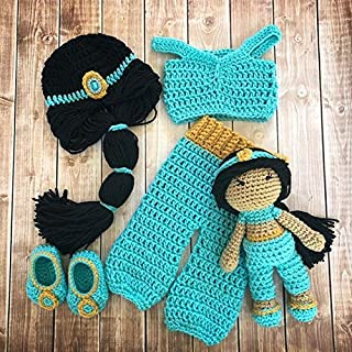 Princess Jasmine Inspired Costume and Matching Doll/Princess Jasmine Wig/Princess Jasmine Photo Prop Newborn to 12 Month Size- MADE TO ORDER