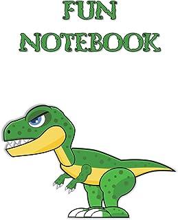 Fun Notebook: Boys Books - Mini Composition Notebook - Ages 6 -12 - Kids Dinosaur Book